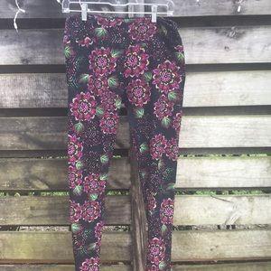 Lularoe leggings floral size tc